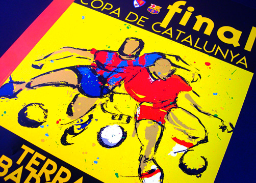 ILLUSTRATION FOR POSTER & PROMOTIONAL ITEMS<br/>FEDERACI&#210; CATALANA DE FUTBOL