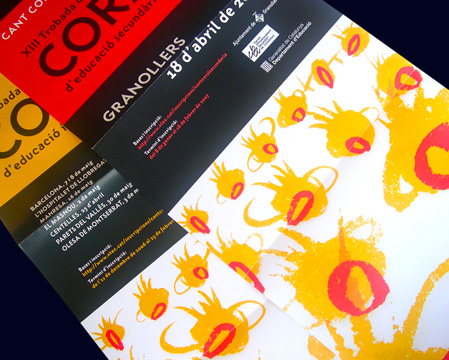 PROMOTIONAL ITEMS FOR CHILDREN&#39;S CHOIR CONCERTS<br/>DEP. EDUCACI&#210; - GENERALITAT DE CATALUNYA